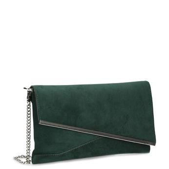 Zelená dámska listová kabelka s retiazkou bata, zelená, 969-7706 - 13