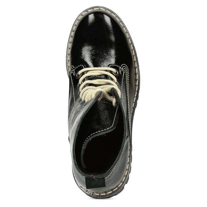 Čierna dámska kožená členková obuv bata-125th-anniversary, čierna, 536-6604 - 17