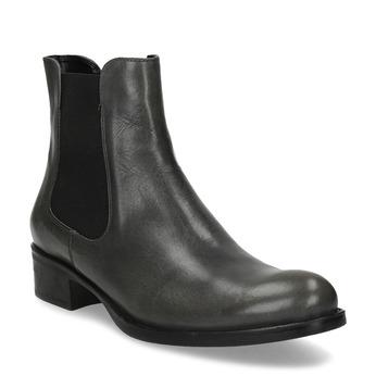 Tmavá khaki dámska kožená Chelsea obuv bata, šedá, 594-3448 - 13