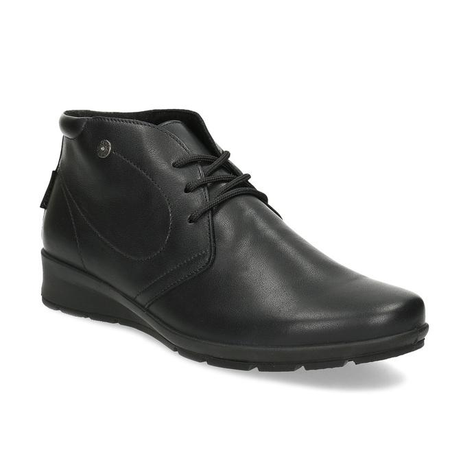 Členková čierna kožená dámska obuv comfit, čierna, 594-6707 - 13