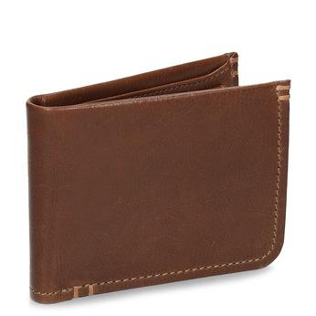 Pánska hnedá kožená peňaženka bata, hnedá, 944-3214 - 13