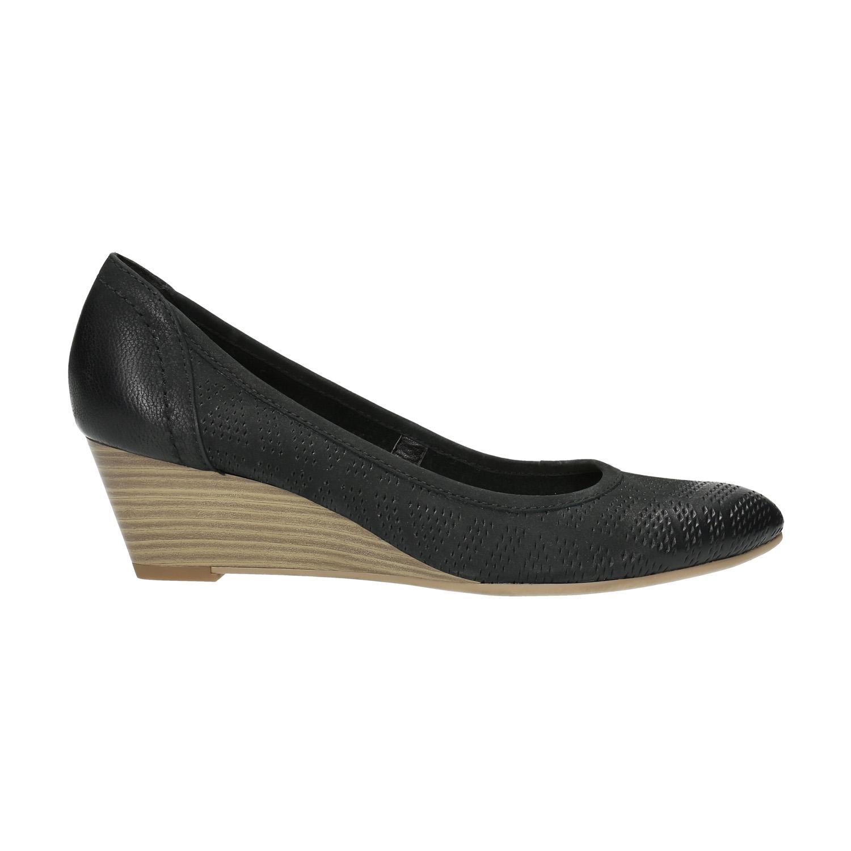 3ff614cc21e7 Baťa Kožené lodičky na klinovom podpätku - Všetky topánky