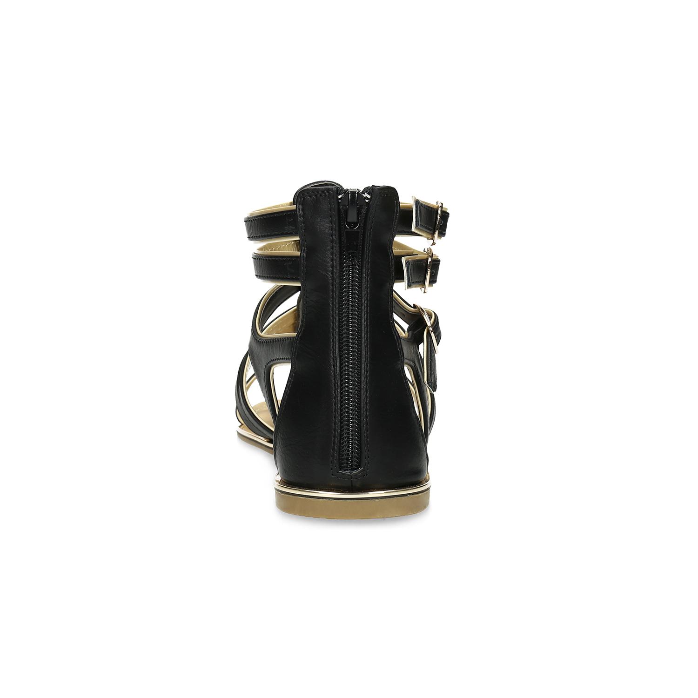 ddf412a1879aa ... Dámske čierno-zlaté sandále bata, čierna, 561-6620 - 15 ...