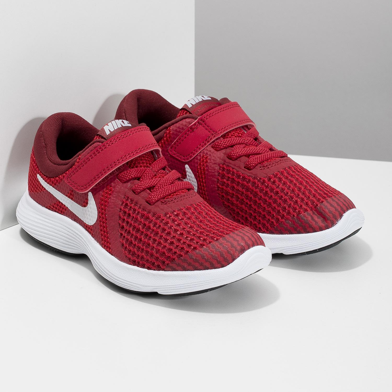 Nike Červené detské tenisky na suchý zips - Tenisky  6088649d0d3