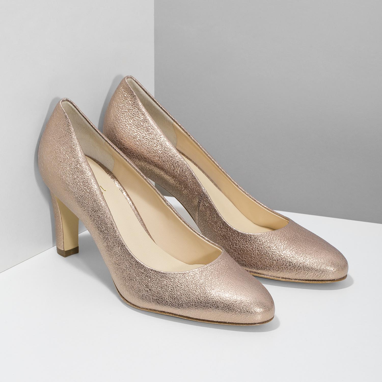 6aaa760b57c4 Hogl Zlaté kožené lodičky - Všetky topánky