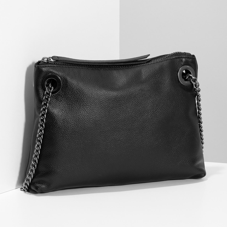 Baťa Kožená čierna Crossbody kabelka - Malé kabelky  6fea761933c
