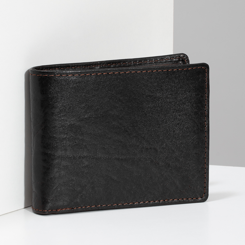 fce483132f70 Baťa Tmavohnedá pánska kožená peňaženka - Pánske