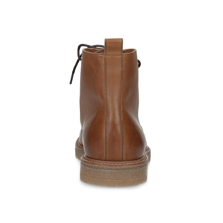 Baťa Hnedá kožená členková pánska obuv - Elegantné  60bab2d3e41
