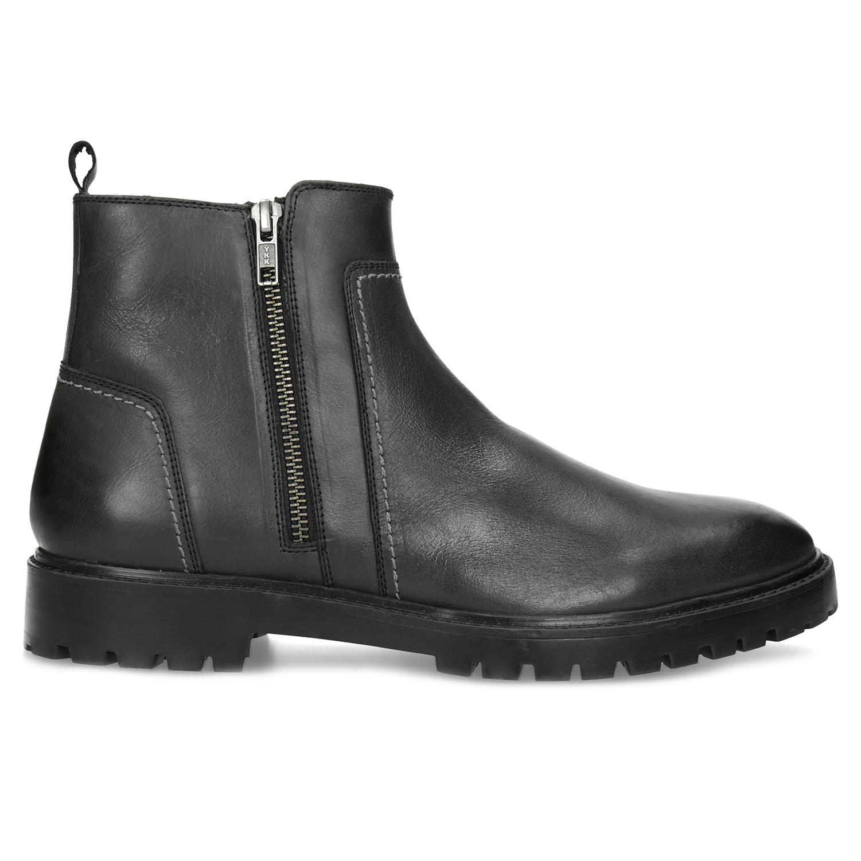 Baťa Zimná pánska čierna členková obuv - Muži  bcb9dddc462