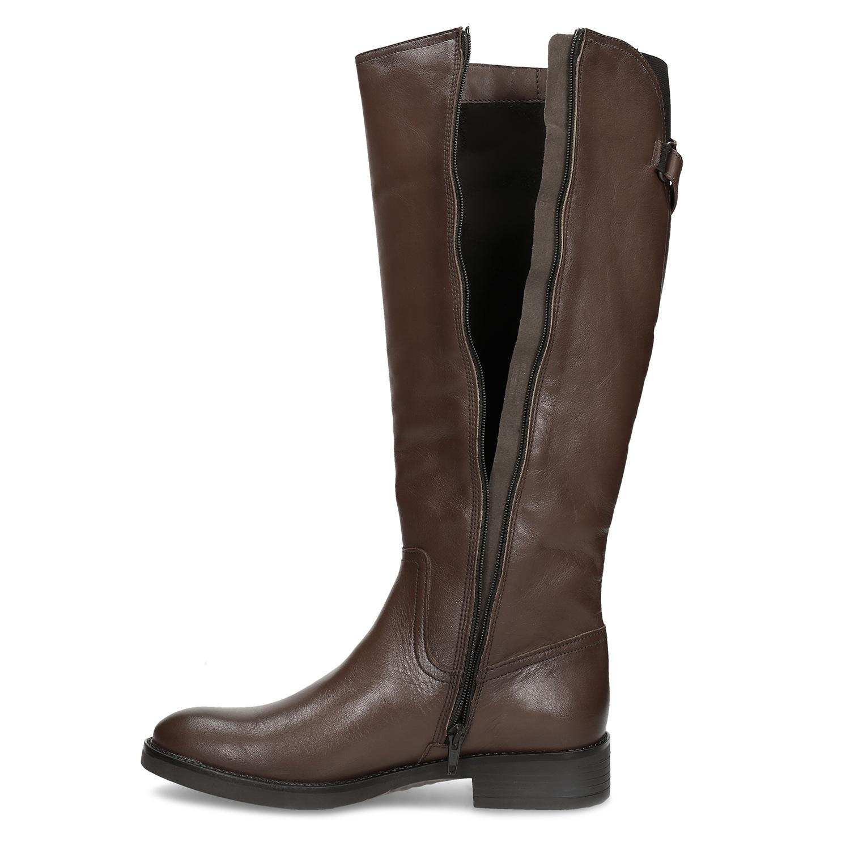 Baťa Kožené hnedé čižmy s prackou - Všetky topánky  52f5041e20e