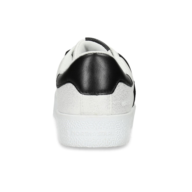 1c8fde06c ... Strieborné Slip-on tenisky s kamienkami north-star, biela, 531-2600 ...