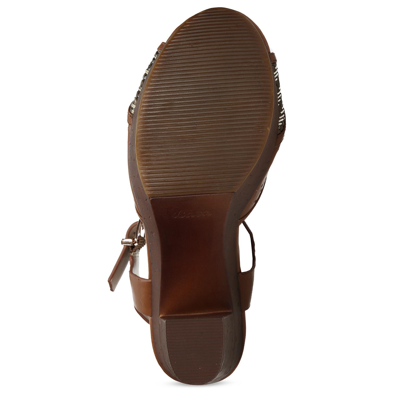 8e07d08ba ... Dámske hnedé sandále na stabilnom podpätku insolia, hnedá, 761-3645 - 18