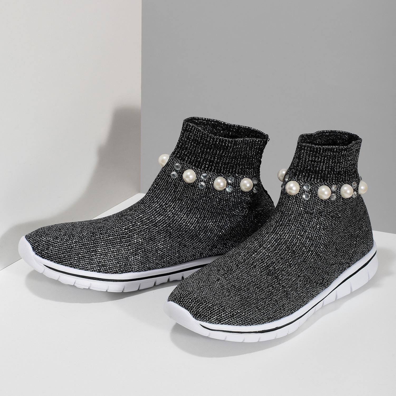 16b4c1a54626 Mini B Členkové detské tenisky z úpletu - Všetky dievčenské topánky ...