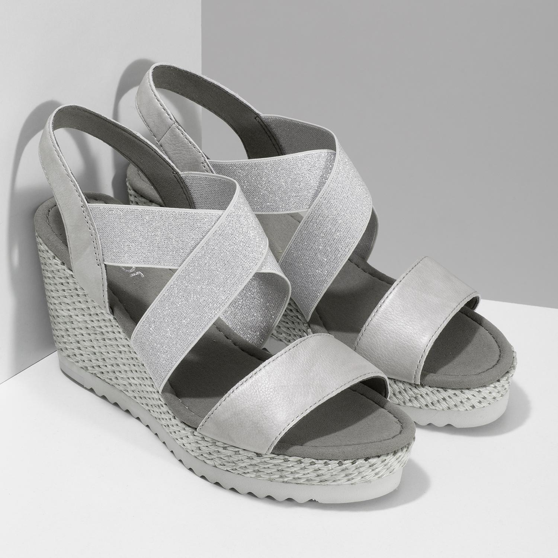 78f05b659e693 ... Strieborné dámske sandále na platforme gabor, strieborná, 769-1645 - 26  ...